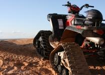 Tracked ATV on Sand Dunes