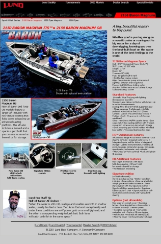 Product Page Lund Boats Site